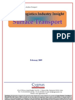 TOC of Logistics Industry Insight - Surface Transport