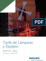 Tarifa Lámparas  y Equipos 2011 Actualizacion Octubre