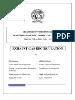 Exhaust Gas Re Circulation