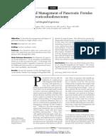 Pancreatic Fistulas