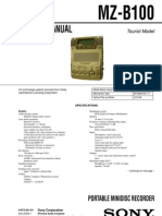 Sony MZ-B100 Service Manual