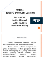 Enquiry Discovery Learning PPT by. andriani