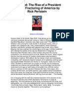 Nixonland the Rise of a President and the Fracturing of America by Rick Perlstein - An Insightful Page-Turner