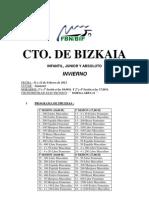 CAMPEONATO DE BIZKAIA DE INVIERNO - RESUMEN