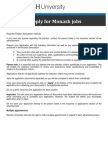 2. How to Apply for Monash Jobs