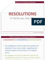 3. Resolutions OIE, Bernard Vallat
