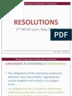 3. Resolutions OIE, Bernard Vallat