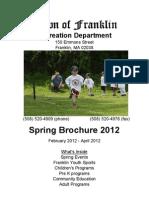 Franklin Rec Brochure Spring 2012