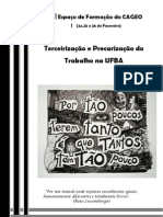CadernoTextos_Espaco de Formacao Do CAGEO - Precarizacao e Terceirizacao PDF