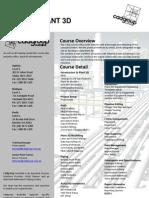 Cadgroup Plant Design Training Flyer