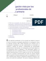 La investigación vista por los propios profesionales de atención primaria