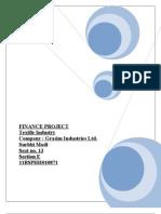 Grasim Industries Finance Project