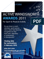 Active Wandsworth Awards Nomination Form 2011