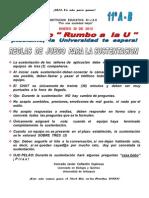 Reglas de Juego Para La Sustentacion a Travez Del Chat