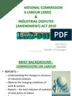 2nd Labour Commission Report 2002 & Ammendment 2010