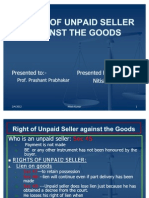 Rights of Unpaid Seller Against the Goods