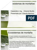 Ecosistemas de montañas