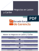 EEG Máster en Negocios en LatAm y Caribe