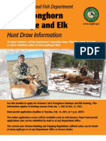 AZ 2012 Elk and Pronghorn Hunting Regs