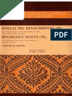 danzas del renacimiento vol. 3 (partituras para flautas doces, viola, alaúde, violinos e violoncelo) - tertre