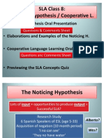 Noticing Hypothesis Lecture