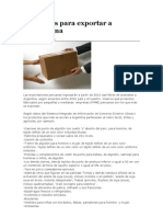 Productos Para Exportar a Argentina