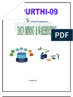 (5)Data Mining and Ware Housing