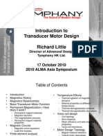 Alma Introduction to Transducer Motor Design - Alma Asia 2010 -Rwl