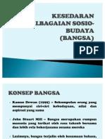 1. BANGSA-KESEDARAN KEPELBAGAIAN SOSIO-BUDAYA