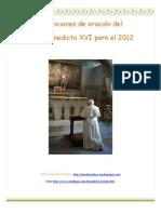 Intenciones Papa 2012