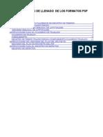 Instructivos de Llenado de Los Formatos Psp