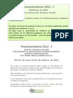 Preuniversitarios 2012_1