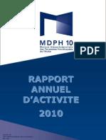 Rapport d'activité MDPH 2010 _direction_