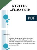Definisi Etiologi Patologi Artritis Reumatoid