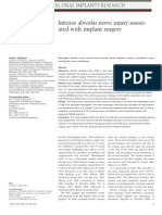 Inferior Alveolar Nerve Injury Associated With Implant Surgery