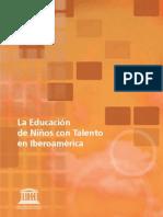 EDUCACIÓN DE NIÑOS CON TALENTO EN IBEROAMERICA