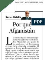 Xavier Batalla. Por Qué Afganistán