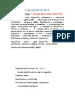Documento Ferdinand de Sausure
