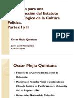 Elementos para una Reconstrucción del Estatuto Epistemológico de la Cultura Polítca.