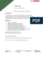 BERN Internships Announcement 2012