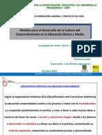 Modelo Emprendimiento IDEP - SED