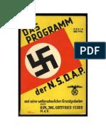 Os Vinte e Cinco Pontos Plataforma política do Original NSDAP