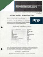 Sylvania Engineering Bulletin - 1000w R60 Wide Flood Lamp