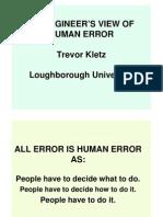Engineers View of Human Error - Kletz