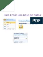 Crear, Abrir Cerrar Una Base de Datos en Access