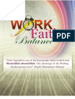 Work Faith Balance