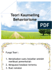 Teori Kaunseling Behaviorisme