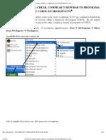 INSTRUCCIONES PARA CREAR Y COMPILAR UN PROGRAMA DE COBOL EN MICROFOCUS®