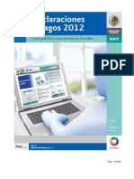 SAT Guia Declaraciones y Pagos Personas Morales 2012
