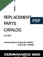 64334305 Norton 850 Commando MKIII Parts List Manual 1975